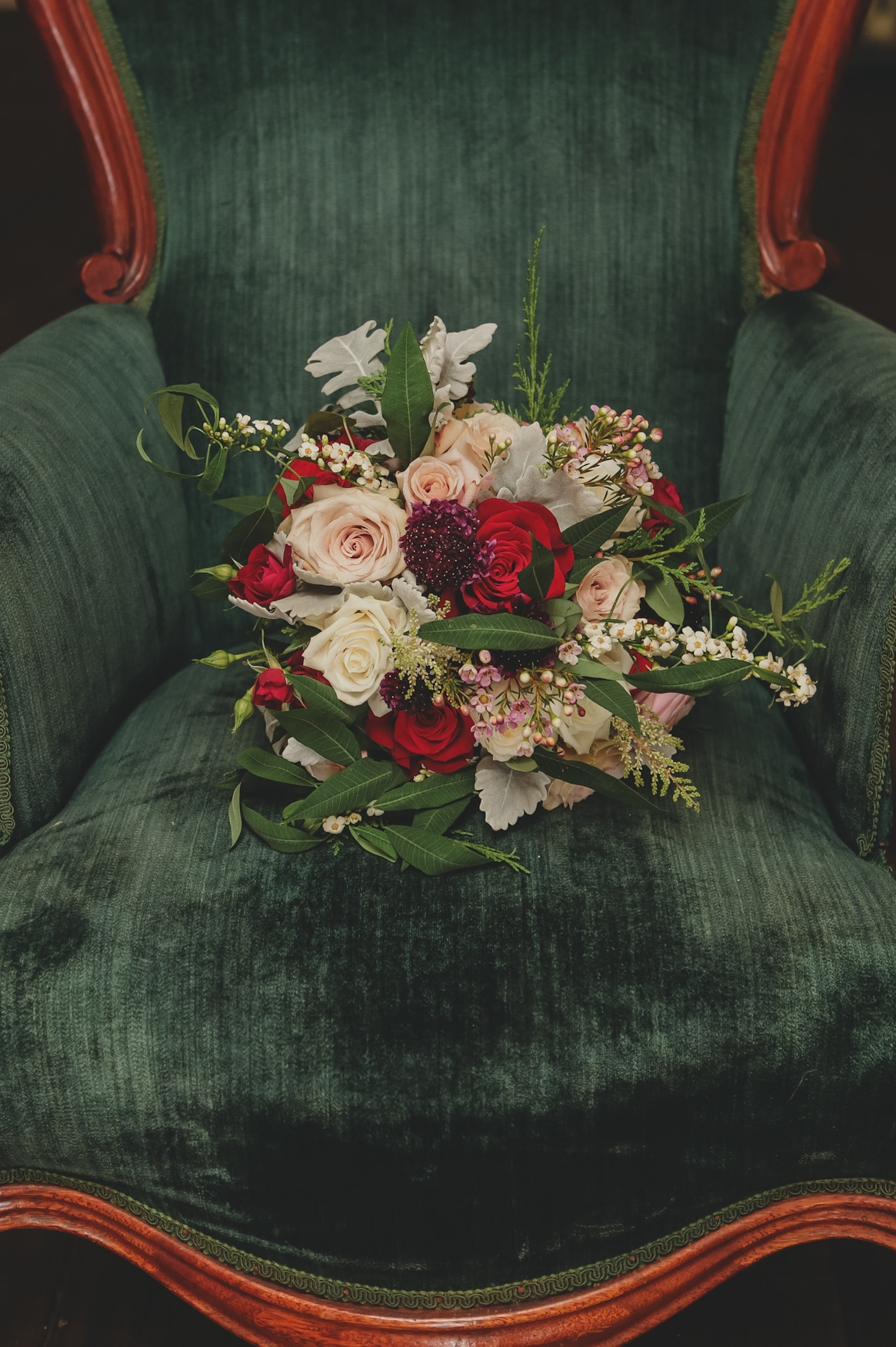 Brides Bouquet at Up the Creek Farms
